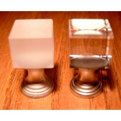 Doorknop cube frosted