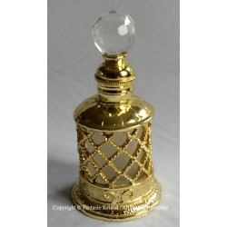 Perfumebottle with metal gold